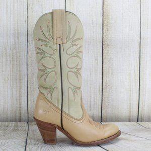 FRYE Vintage Cowgirl Tree Design Heeled Boot Sz 6